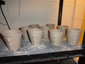 The first batch of prototype Steampunk cups (design #1)