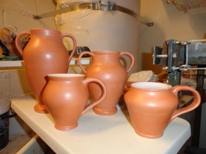Vessels waiting for decoration