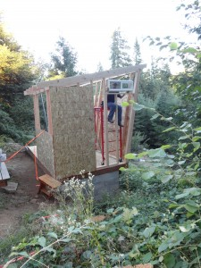 Tiny house construction 18 August 2013