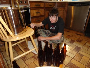Bottling the Hibiscus IPA